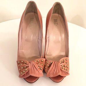 Red Valentino peep toe pumps